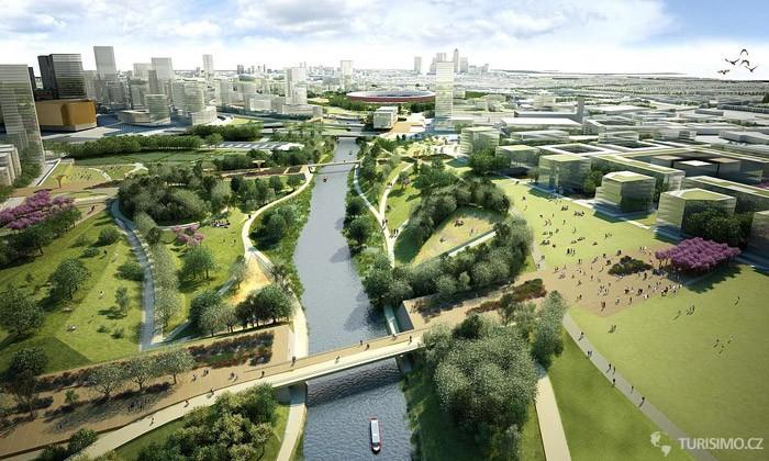 Olympijský park zahrnuje několik stanovišť autor london